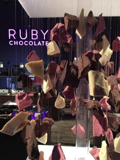 Barry Callebaut bulk chocolate supplier has introduced a new type of chocolate for their b2b wholesale supply. It is a couverture chocolate called Ruby Chocolate.