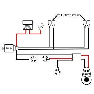 HUIQIAODS 汎用スイッチ付き リレーハーネス フォグランプリレー 8FT 12V 40A LED取付用配線