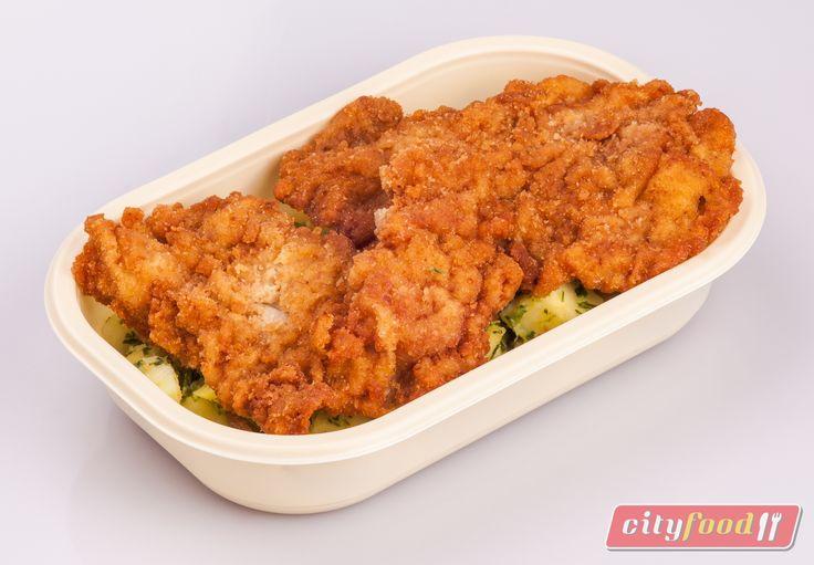 Pénteki étlapunkon: Mustárban pácolt pulykamell rántva, petrezselymes burgonya  http://www.cityfood.hu/ebed-hazhozszallitas/rendeles-cityfood-hazhozszallitas-ebed