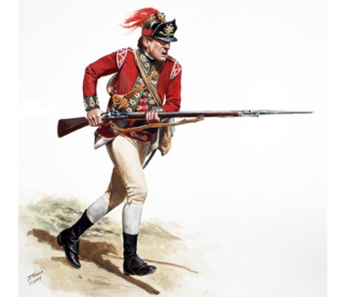 Private light infantry company 5th regiment of foot 1775 for Gear company of america