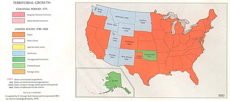 usa territorial growth 1880
