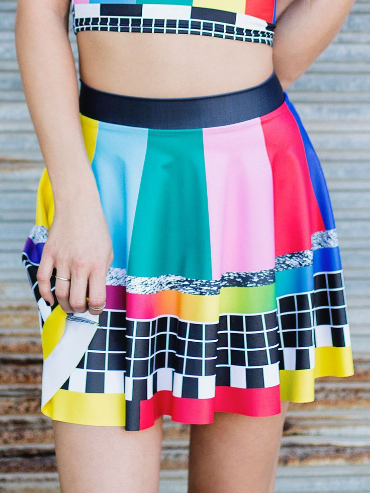 Stay Tuned Skater Skirt (WW 24HR $50AUD / US – LIMITED $45USD) by Black Milk Clothing