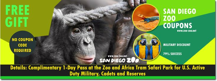 The San Diego Zoo and San Diego Zoo Safari Park. Offer a complimentary one-day pass to the Zoo and an Africa Tram Safari at the Safari Park throughout the year for active duty military, cadets of military academies and reserves with active orders.
