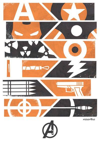 Cool minimalist artwork for The Avengers.