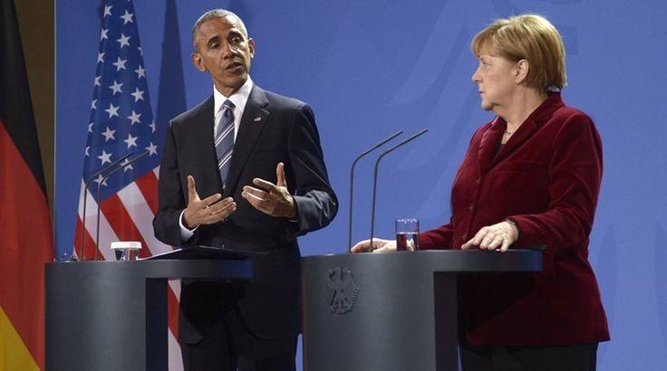 """""""Το ελληνικό χρέος χωρίζει Ομπάμα και Μέρκελ"""