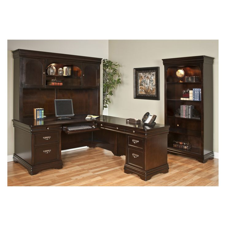 Martin Home Furnishings Beaumont L Shaped Desk With Options
