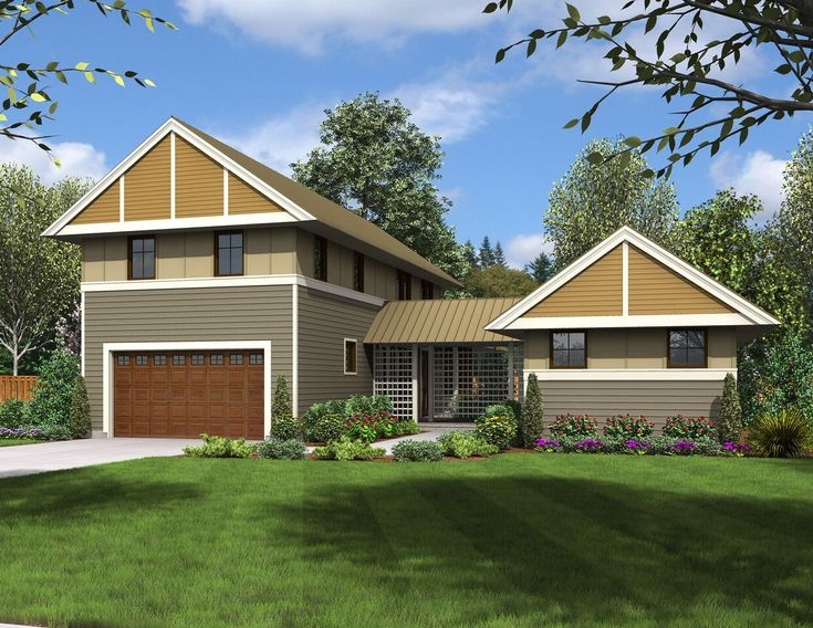 Unique Dog Trot House Plan - 69609AM | Craftsman, Northwest, 2nd Floor Master Suite, Bonus Room, CAD Available, Den-Office-Library-Study, In-Law Suite, Media-Game-Home Theater, PDF, Corner Lot | Architectural Designs
