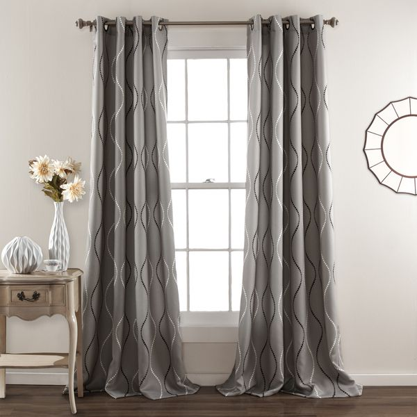 Lush Decor Swirl Blackout Curtain Panel Pair Ping Great Deals On Grommet