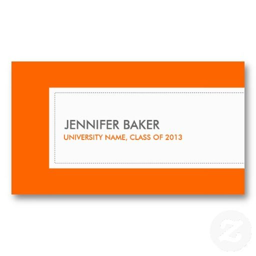 21 best business cards for college and university students images on university or college student orange business card colourmoves Images