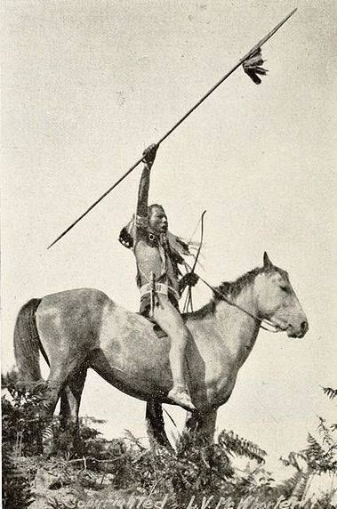 Yakama Warrior ca. 1913 .... The Confederated Tribes and Bands of the Yakama Nation is a Native American group with nearly 10,000 enrolled members, living in Washington.