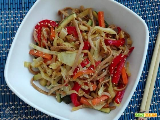 Noodles con verdure saltate  #ricette #food #recipes