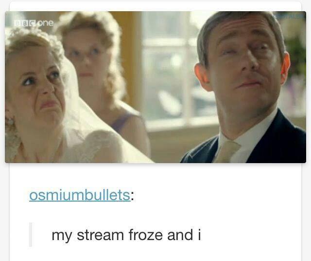Frozen screen shot.