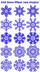 Kaleidoscope Collections - Snowflakes Template Pack Product Specs