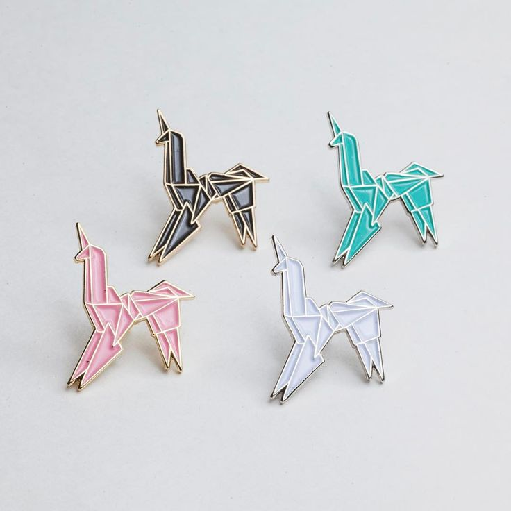 For a limited time, you can pick up all 4 of our origami unicorns for just $25.  This will run until Valentine's Day, or until the unicorns run out!  #unicorn #llama #enamelpins #pins #pin #pingame #enamelpin #flair #hatpins #lapelpins #punkpins #pinstagram #pinsaddiction #pinning #pinsofig #streetwear #patchgame #softenamelpins #pincollector #lapelpin #hatpin #art #artist #artwork #illustration