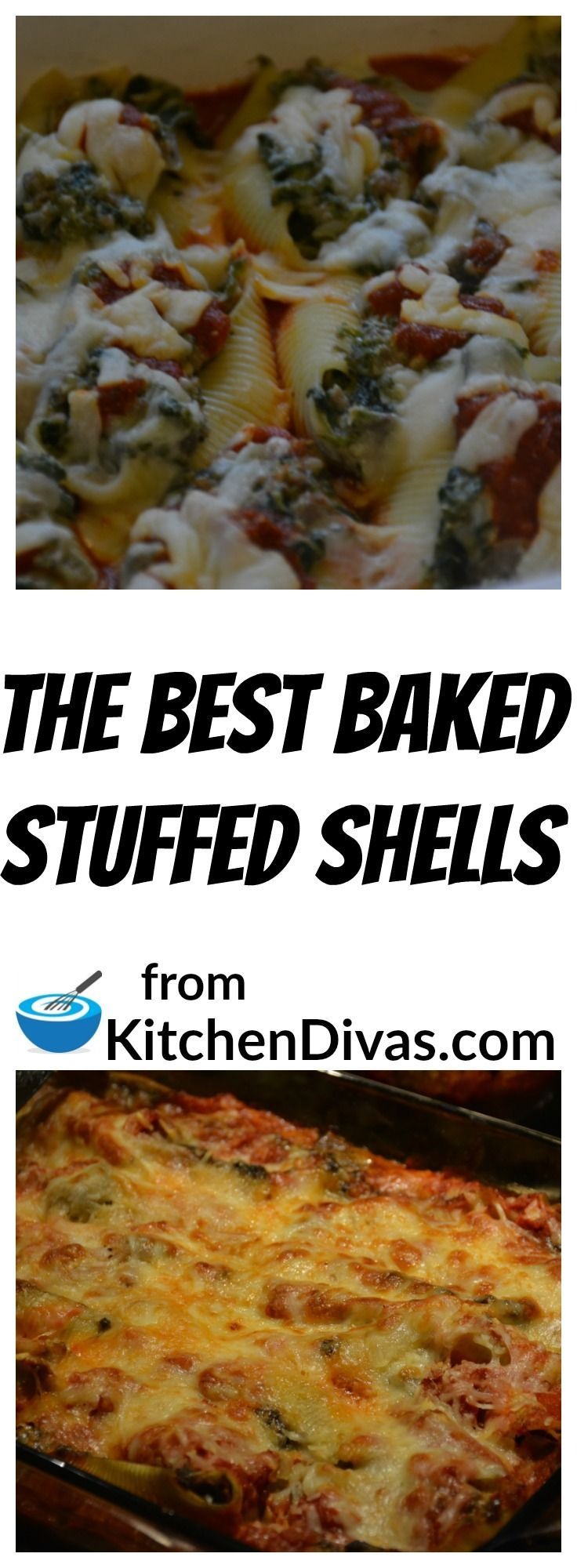 This is truly The Best Baked Stuffed Shells recipe you will ever come across.   Our favorite ground meat combinations are turkey and veal or pork and beef but you can use whichever ground meats you prefer.  They all will taste great.   We put more sauce on top of the shells than shown in the photo and mozzarella cheese across the top so the final product looks like a casserole.    This stuffed shell recipe is worth the effort.   They are delicious.  You really have to give them a try.