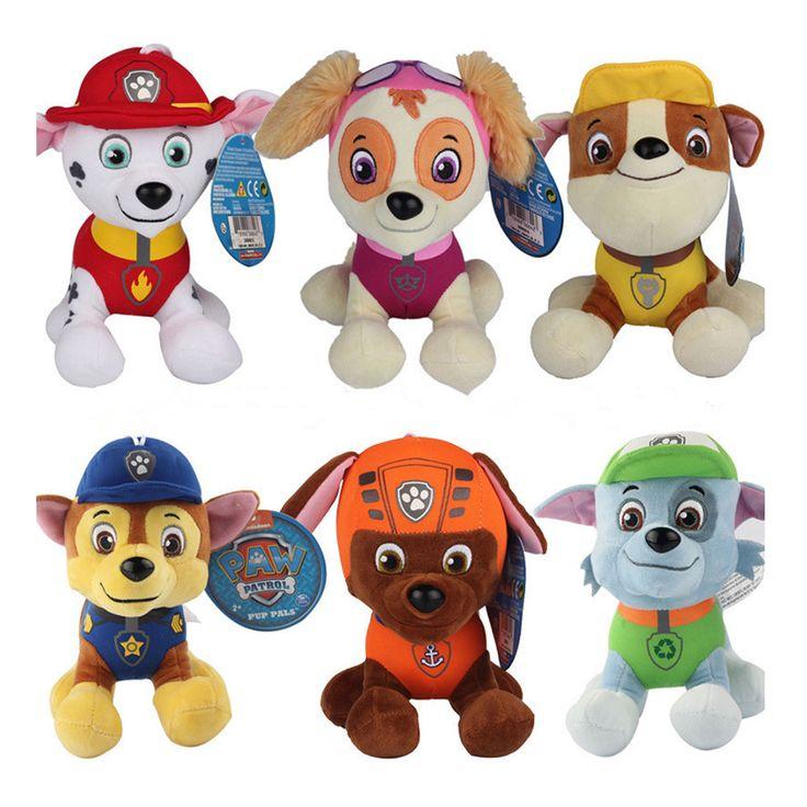6 Pcs/set Canine Patrol Rescue Dog Plush Dolls