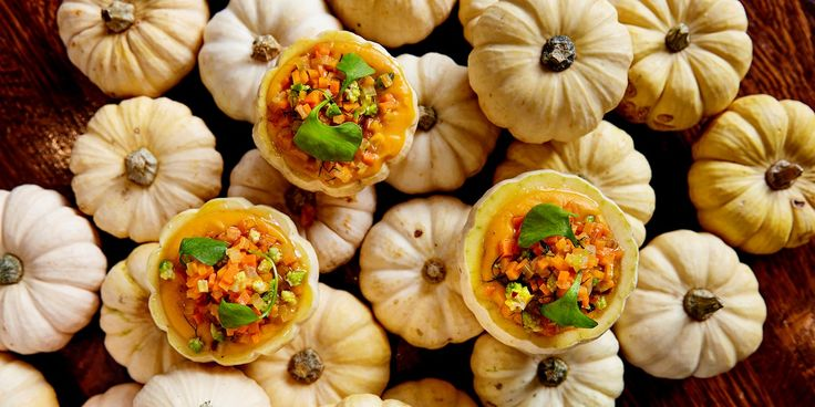Pascal Aussignac serves up an inventive starter of jack-be-little squash filled with silky-smooth butternut squash purée.