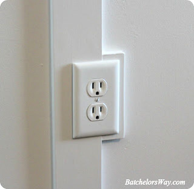 popping b&b out instead of recessed outlets ~ Board and Batten Outlet tutorial