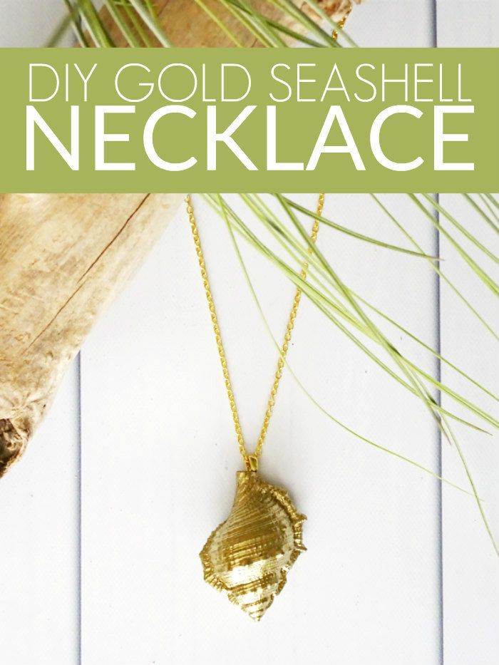 DIY Gold Seashell Necklace