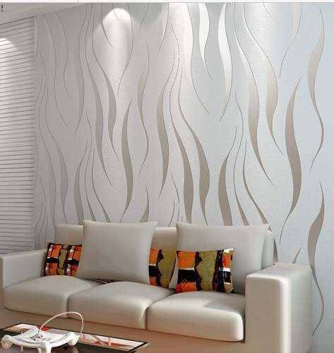 Modern papel de parede embossed 3D wallpaper living room bedding tv wall paper roll feature textured home decoration