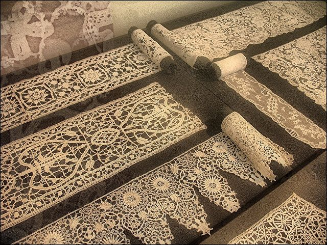 Antique lace - The Museum of Applied Arts in Budapest, Hungary More