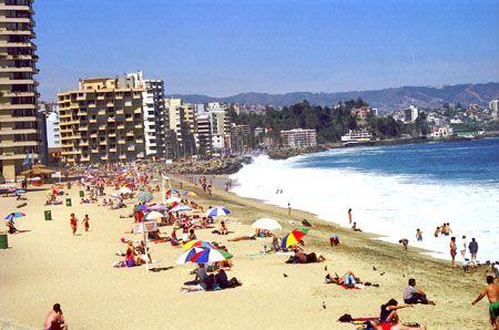 Una playa en Viña del Mar