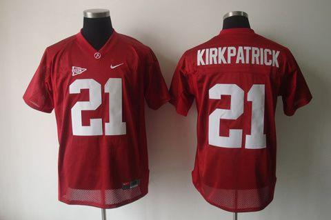 Men's NCAA Oklahoma Sooners #21 Kirkpatrick Red Jersey