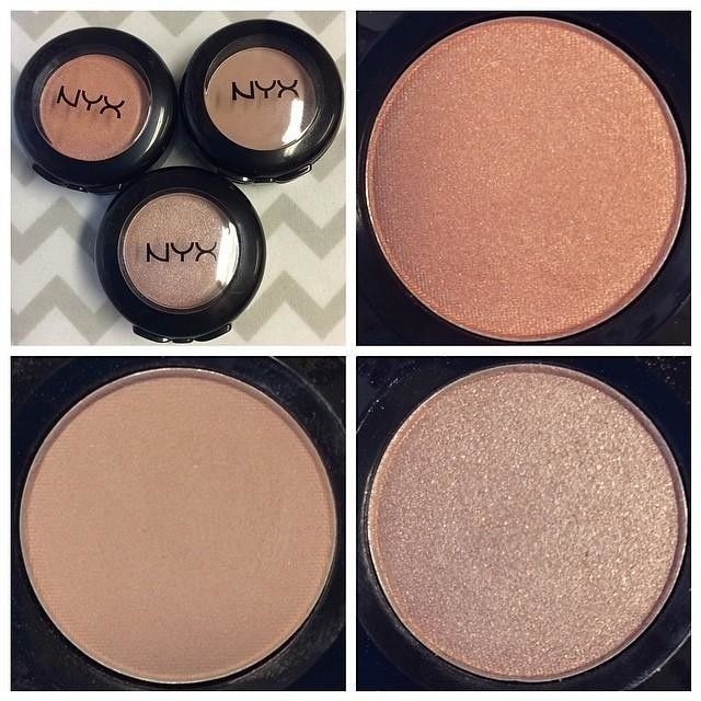 Nyx Hot Singles Eye Shadows in Sex Kitten, Stiletto, and Sin