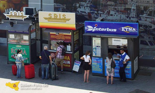 Busverbindungen auf Sizilien - Ticketverkauf am Flughafen Catania http://www.sizilien-etna.de/2015/08/busverbindungen.html
