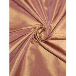 "SILK TAFFETA FABRIC Pinkish Lavender with Gold shot 54"""