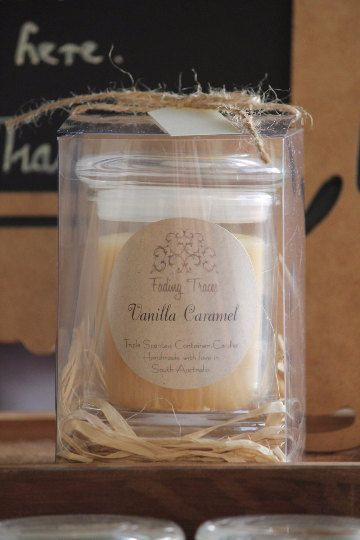 Vanilla Caramel Triple Scented Container Candle. by FadingTraces