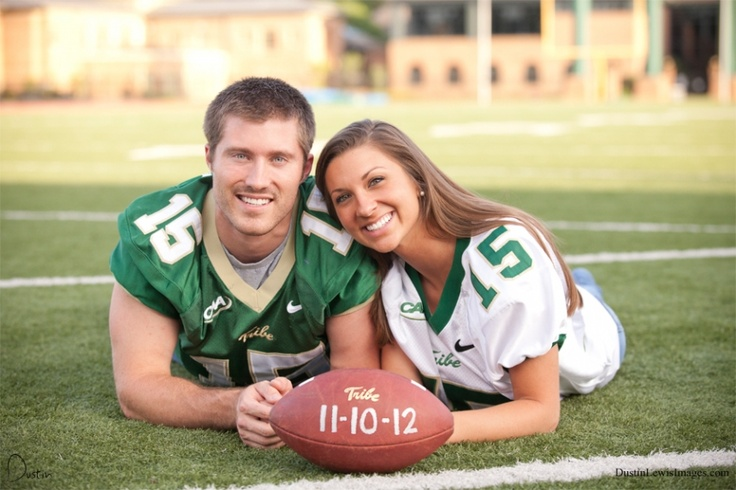 This would be so cute if she wore one of his old jerseys and their wedding date was written on the football...not really BABY SHOWER but I thought of Brooklyn when I saw this