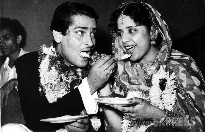 Shammi Kapoor and Geeta Bali.