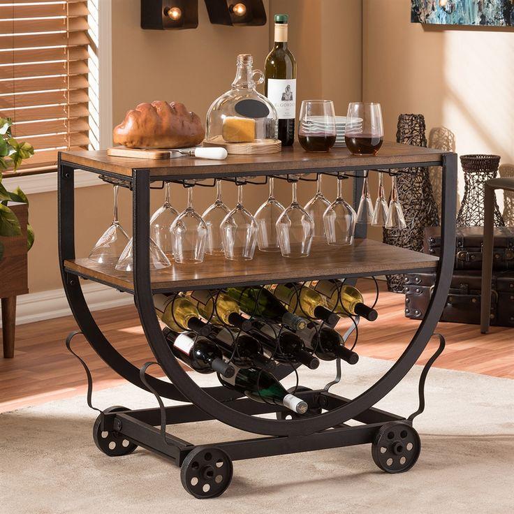 Baxton Studio Brown Industrial Kitchen Cart At Lowes Com: Best 25+ Wine Cart Ideas On Pinterest