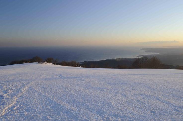 Beigua Regional Natural Parc - snow on the sea Liguria - Unesco World Heritage © Paolo Picciotto