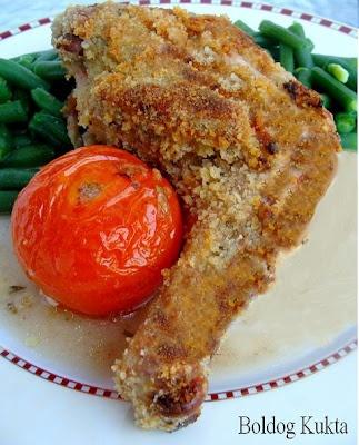 Poulets grillés á la diable - Csirke mustárral, fűszerekkel, kenyérmorzsával rántva http://www.boldogkukta.blogspot.hu/2012/02/v-recept-poulets-grilles-la-diable.html