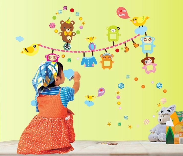 38 best Cartoon Wall Decals images on Pinterest | Child room, Wall ...