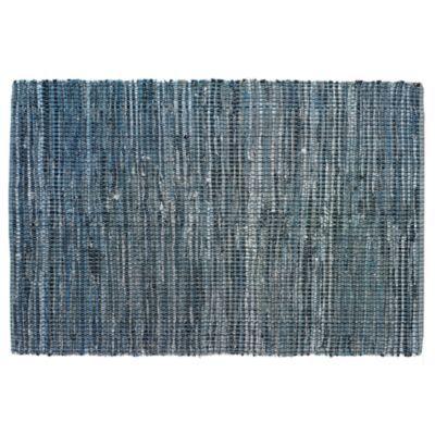 recycled denim rug for twin nursery