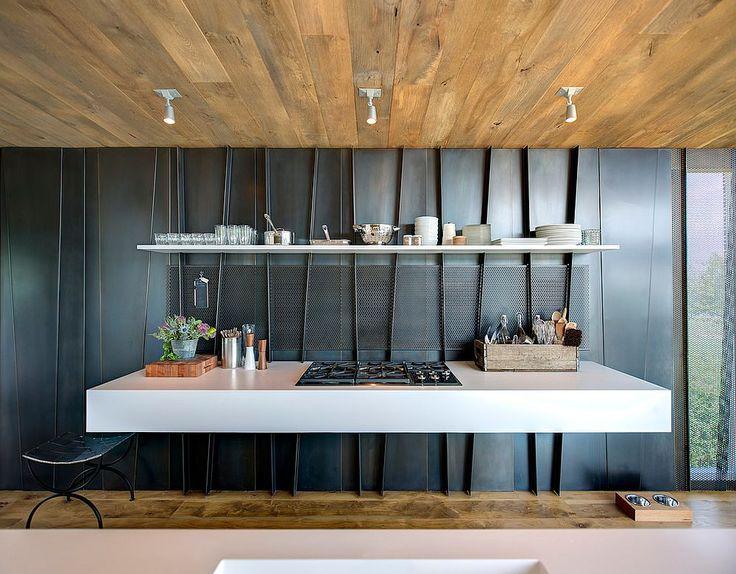 Minimalist Kitchen With Unique Metal