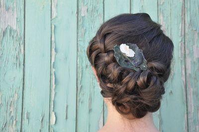 #Hair by Allene Chomyn Hair Design www.allenechomyn.com, #fascinator by Paperhouse Studio www.paperhousestudio.ca
