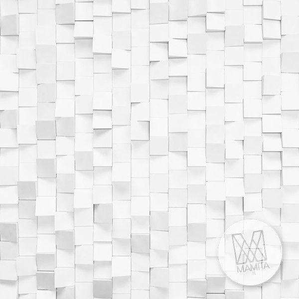 Fototapeta Salon 253 – mozaika, kostki, białe, abstrakcja