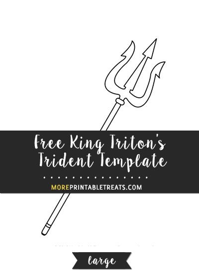 Free King Triton S Trident Template Large Templates