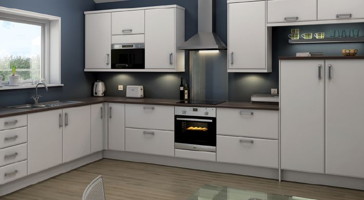 magnet kitchen design. genoa white range. a clean, simple and