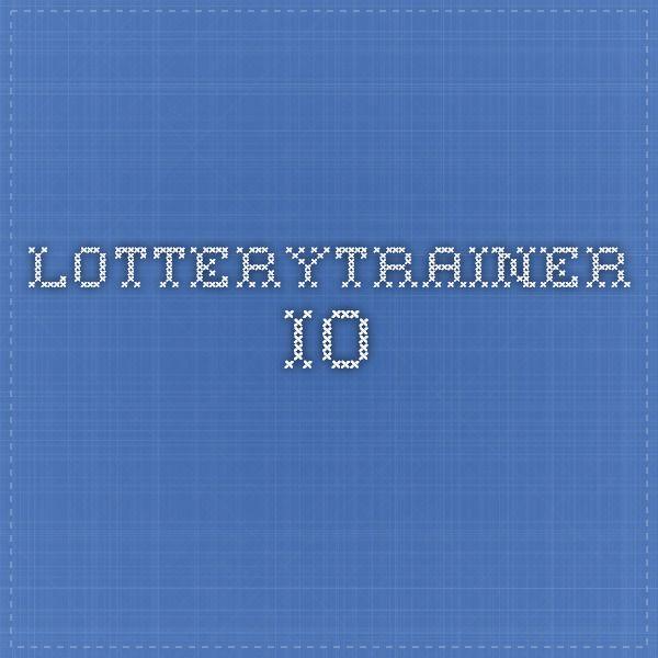 lotterytrainer.io