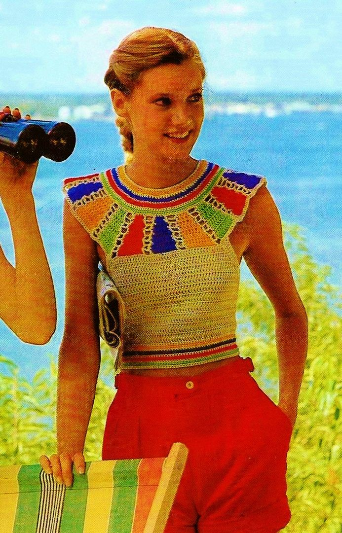 Egyptian Yoke Halter Top PDF Retro Crochet by MomentsInTwine
