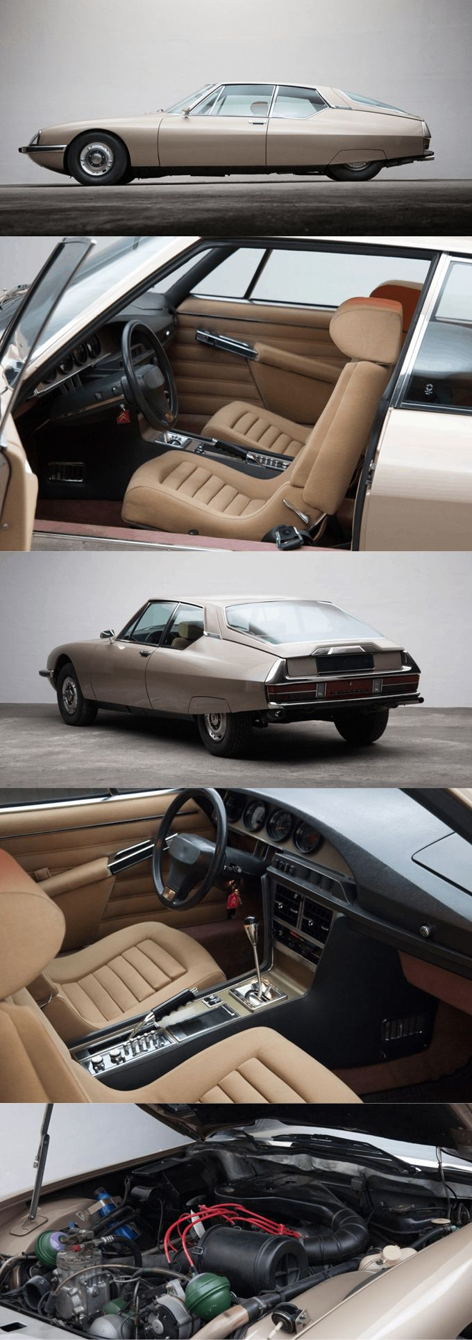 1971 Citroën SM / beige champagne / France / for sale at thecoolcars.nl