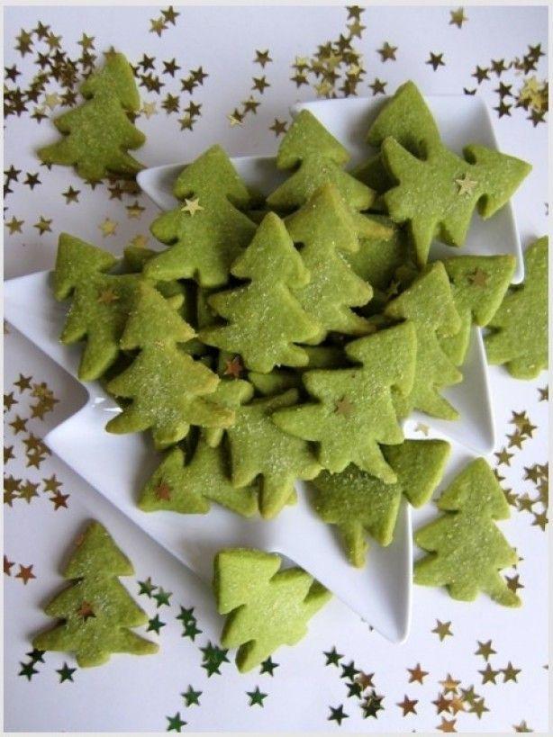 Food4fun, groene kerstboomkoekjes.