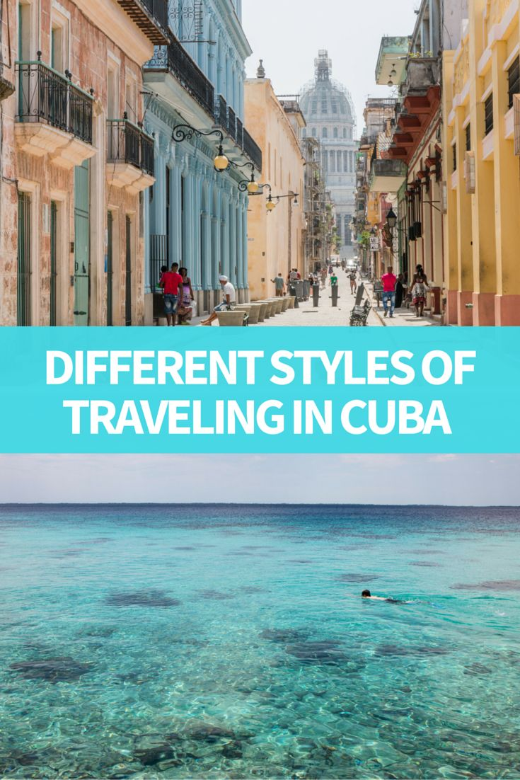 different styles traveling cuba