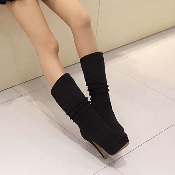 Women Boots 2014 Autumn Winter New Fashion Ladies Sexy Knee High Boots Matte PU Long Boots Plus Size 32-43 XY338