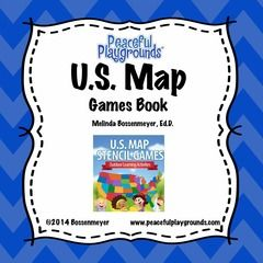 Best US Map Stencil Images On Pinterest Teaching Social - Fifty us map game